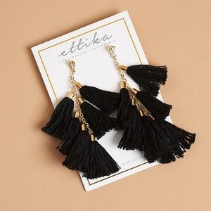 NWT Ettika Tassel Earrings